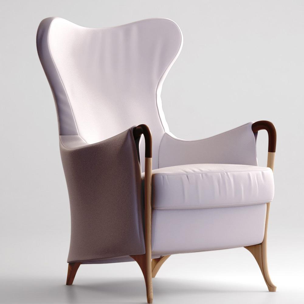 Giorgetti Progetti Wing Chair 63340